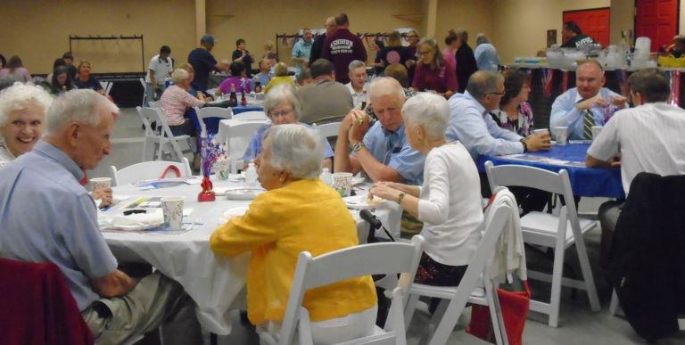 Ashburn residents enjoying Pancake Breakfast at AVFRD!
