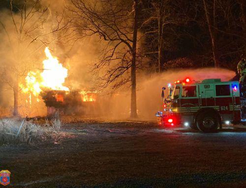AVFRD Sunday Night Crew Respond on Fire in Sterling