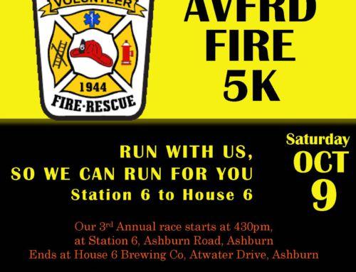 Register Now for AVFRD's 5K – October 9th